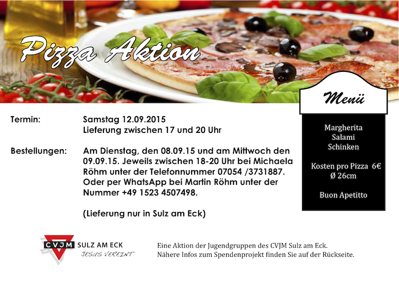 Pizzabackaktion 2015